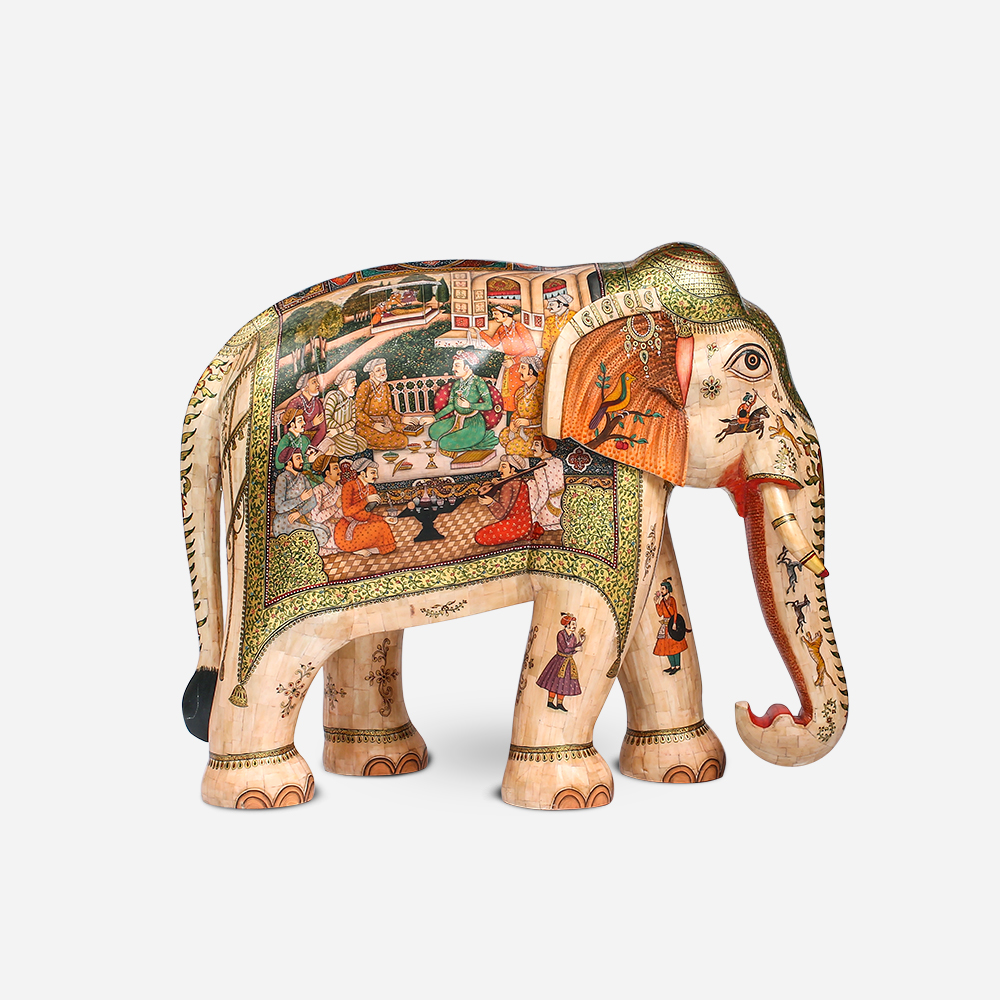 Elephant with Miniature painting