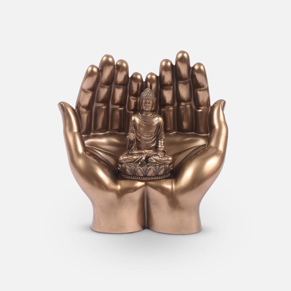 Namaste Buddha Bronze Statue