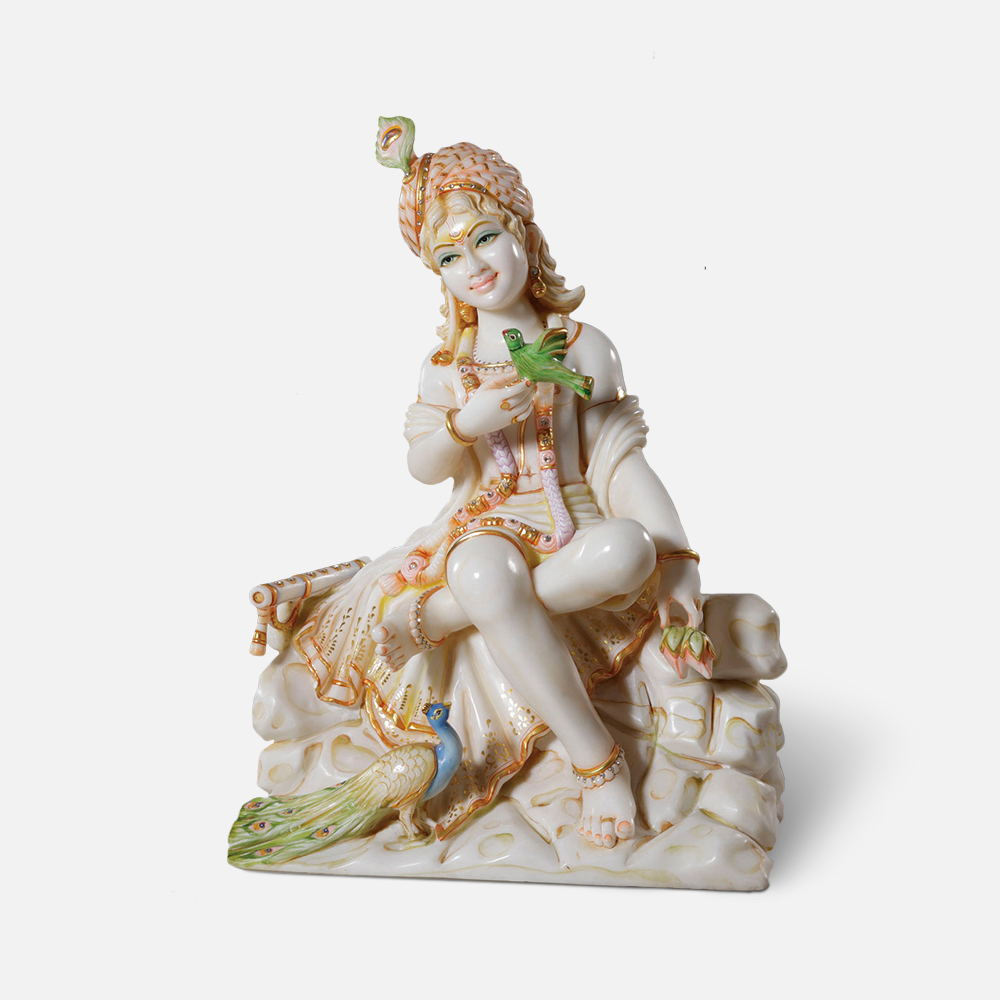 Gwaal Krishna Marble Murti