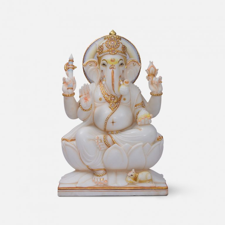 Ashirwad Ganesha Marble Murti