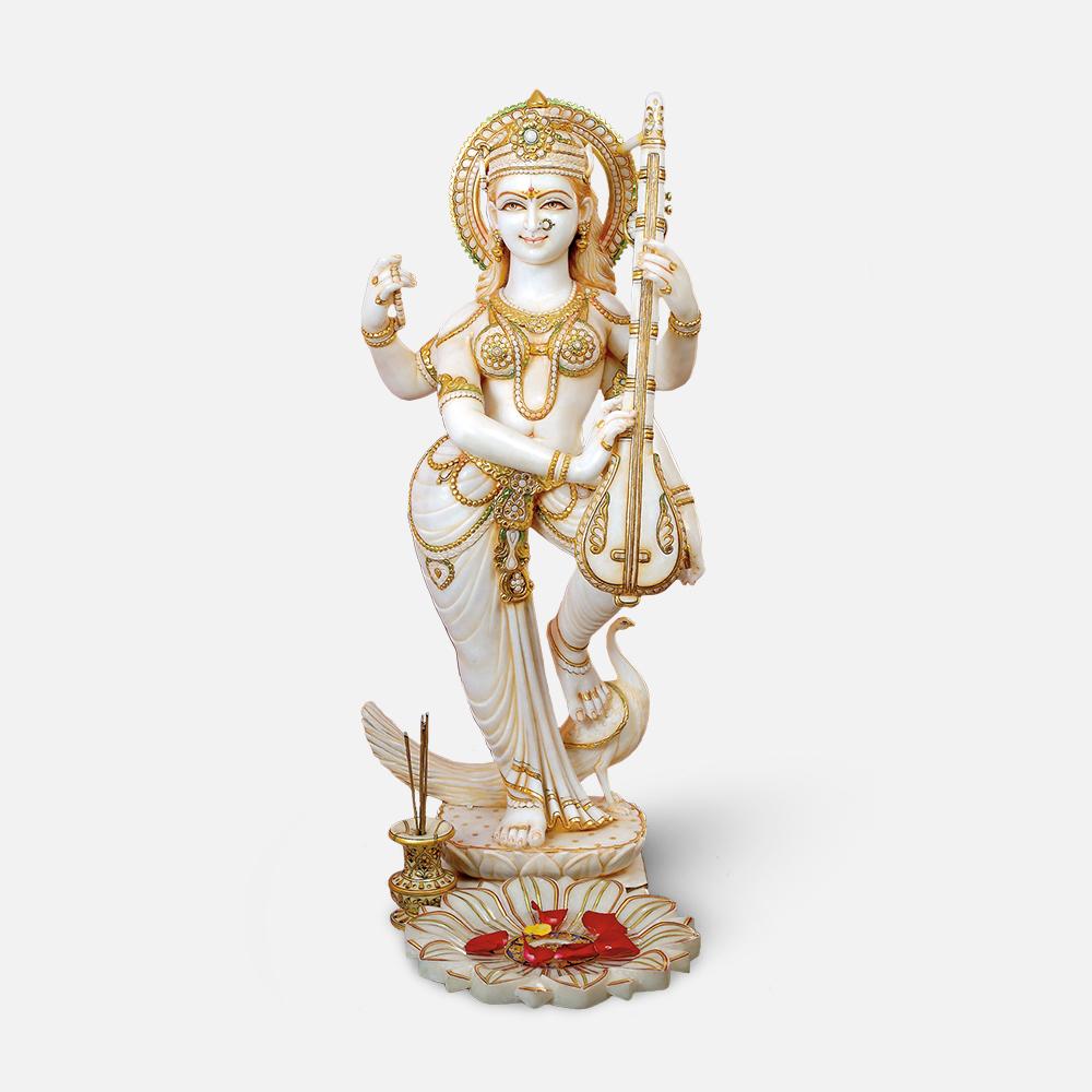 Saraswati Maa Standing Murti