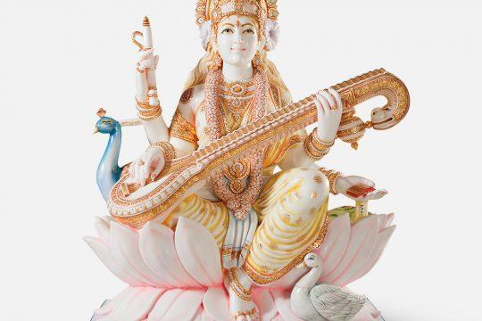 Saraswati Maa on Lotus