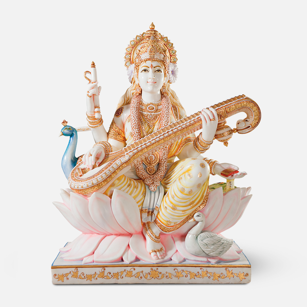 Saraswati Maa on Lotus