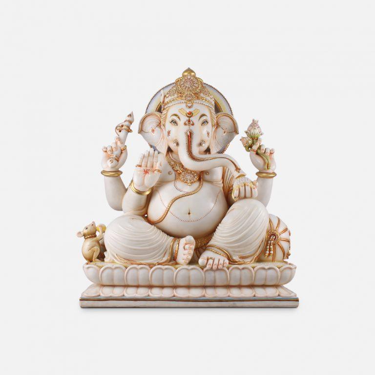 Lord Ganesha Marble Statute