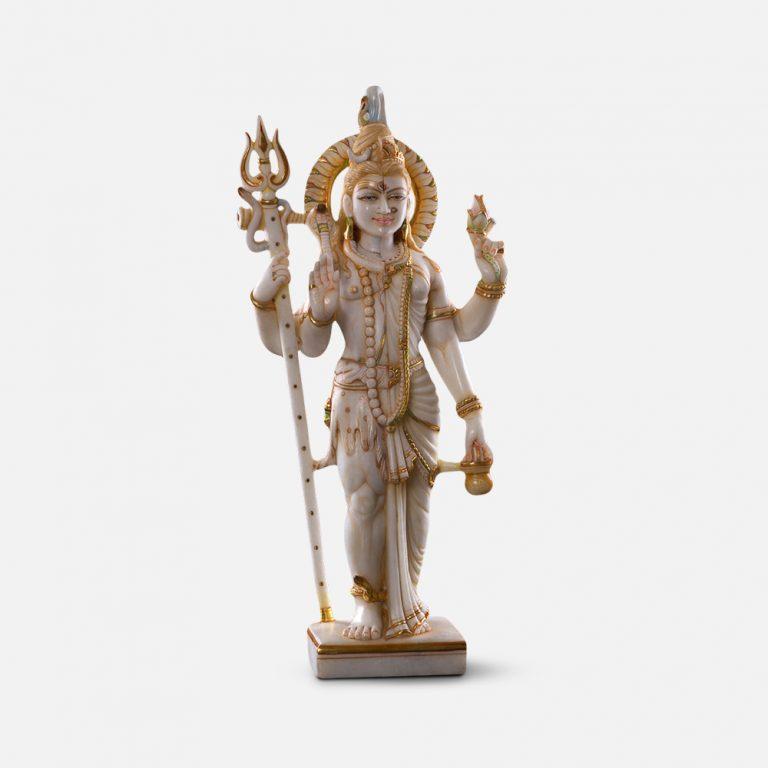 Ardh Nareshwar Marble Murti