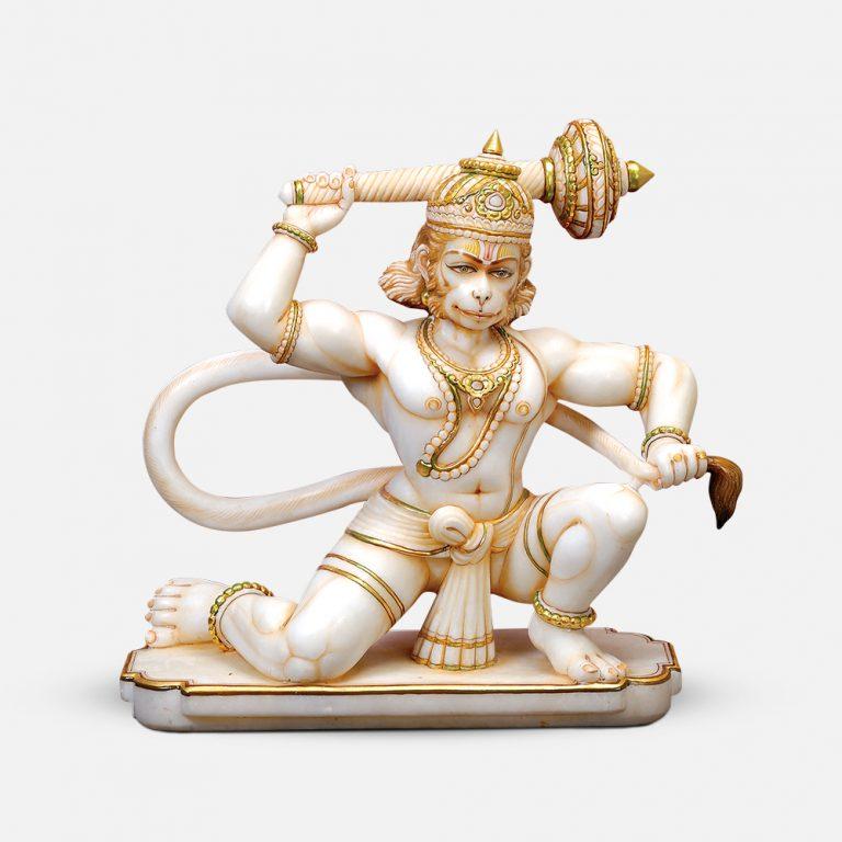 Veer Hanuman Ji Marble Murti