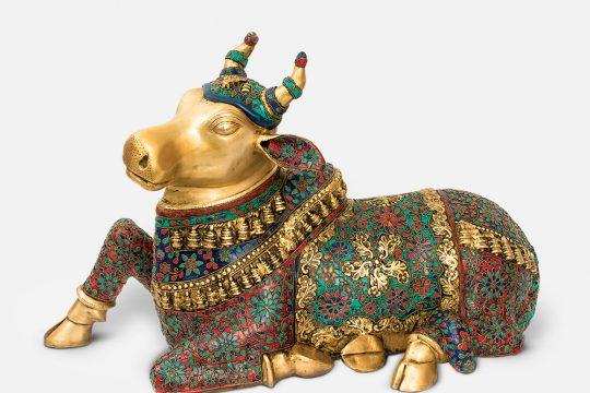 Guardian Nandi Brass Murti
