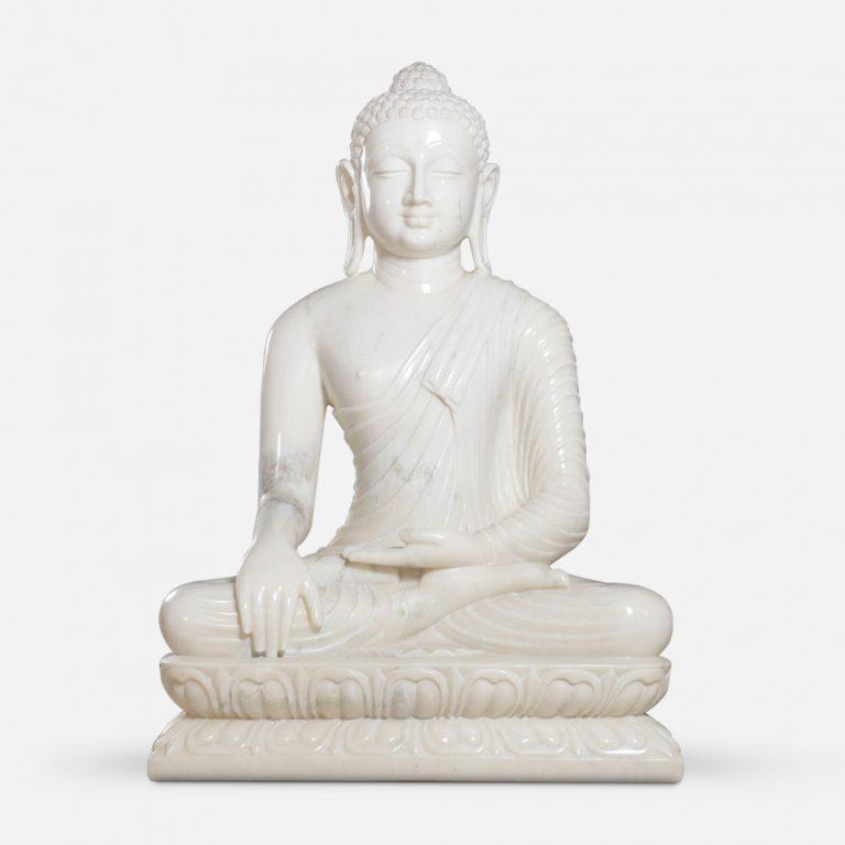 Bhumisparsh Buddha Marble Statute