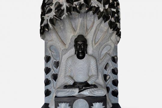 Buddha Under Bodhi Tree Marble Murti