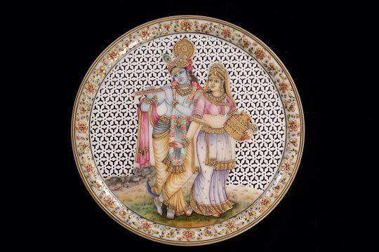 Radha Krishna Marble Painting