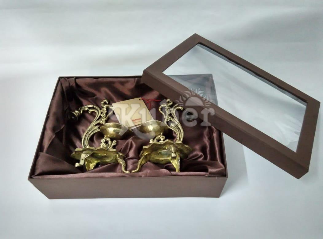 Diwali Gift Ideas Metallic Diyas or Lamps